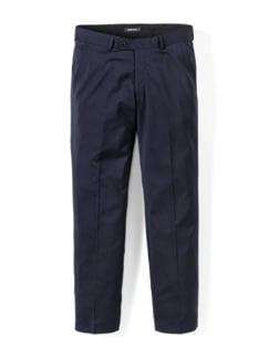 Naturstretch-Anzug-Hose Nadelstr. Blau Detail 1