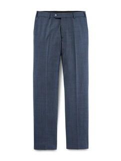 Traveller Anzug-Hose Blau Melange Detail 1