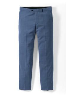 Naturstretch Anzug-Hose Blaugrau Detail 1