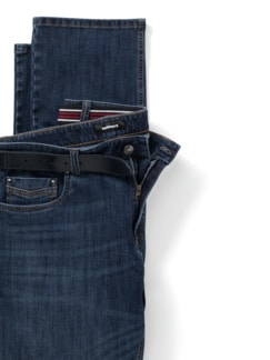 Gürtel-Jeans Regular Fit Dark Blue Detail 4