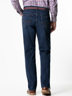 Gürtel-Jeans Regular Fit Dark Blue Detail 3