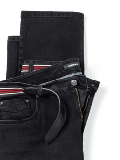 Gürtel-Jeans Regular Fit Black Detail 4