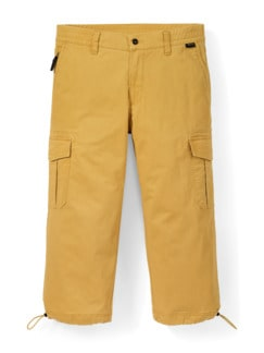 Cordura Baumwoll 7/8-Cargo Gelb Detail 1