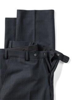 Reise-Anzug-Hose Minimalkaro Blau/Schwarz Detail 4