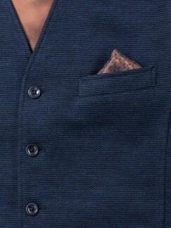 Jersey Weste Bicolor Mittelblau Detail 4