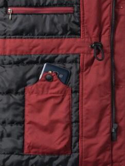 Winter-Langjacke Rot Detail 3