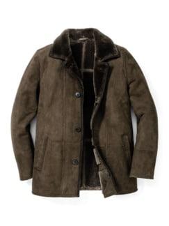 Lammfell Carcoat Khaki Detail 1