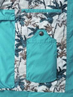 7-Taschen-Reiseblouson Ozeanblau Detail 3