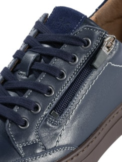 Reißverschluss-Sneaker Marine Detail 4
