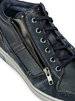 Kalbsleder-Sneaker High Top Blau Detail 4
