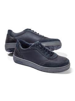 Kalbsleder-Sneaker Blau Detail 1