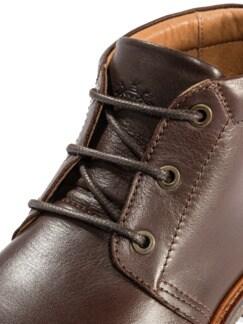 Chukka-Stiefel Dunkelbraun Detail 4