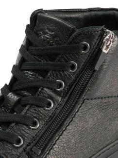 Hirschleder Sneaker High-Top Schwarz Detail 4