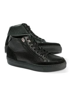 Hirschleder Sneaker High-Top Schwarz Detail 1