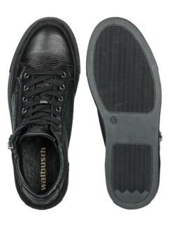 Hirschleder Sneaker High-Top Schwarz Detail 2