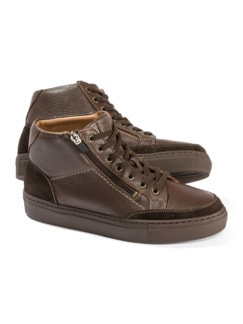 Hirschleder-Sneaker High Top Braun Detail 1