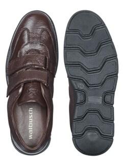 Hirschleder Doppelklett-Sneaker Braun Detail 2