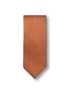 Seidenkrawatte Minimal Orange Detail 1