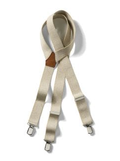 Hosenträger Uni Beige Detail 1