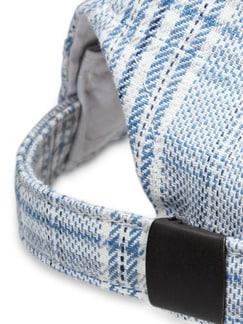 Coolmax-Kappe Karo Blau Detail 3