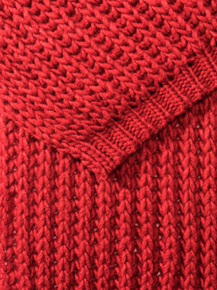 Strickschal Rot Detail 2