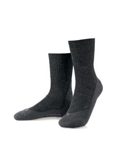 Wander-Socke Dame 2er-Pack Anthrazit Melange Detail 1