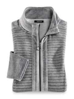 Nicki Homewear Jacke Grau Detail 2