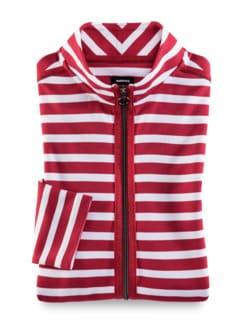 Freizeitjacke Breton-Streifen Rot/Weiß Detail 3