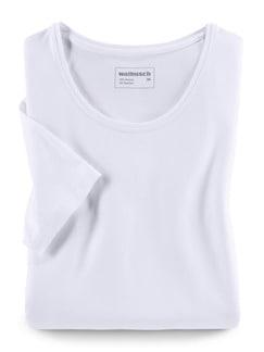 Viskose-Shirt Weiß Detail 3