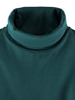 Viskose Unterzieh-Rolli Smaragd Detail 4