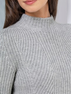 Cashmino Pullover Nahtlos Grau Melange Detail 4