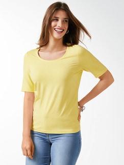 Viskose-Shirt Gelb Detail 1