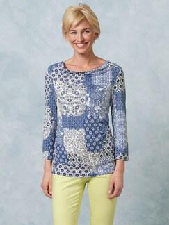 Shirt Santorini Kachelprint