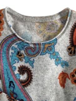 Cashmere Leicht-Pullover Paisley Multicolor Detail 3