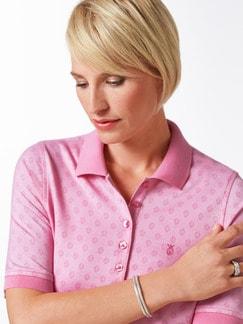 Extraglatt Polo Jacquard Pique Pink Detail 4
