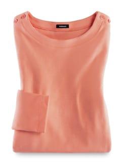 Shirt Soft-Ripp Melone Detail 2