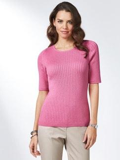 Strickshirt Pima Cotton Uni Pink Detail 1
