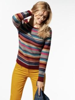 KERO Alpaka-Pullover Ringel Multicolor Detail 1