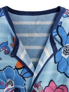 Wendestrickjacke Blumenmeer Hellblau Multicolor Detail 4