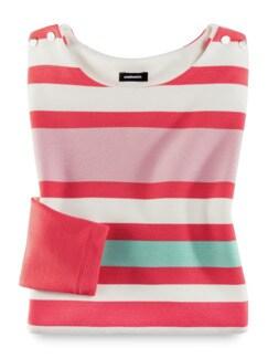 Struktur-Sweatshirt Streifen Calipso Detail 2
