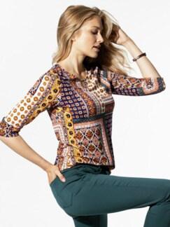 Viskose-Shirt Mosaik Violett Detail 1