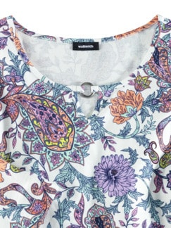 Blouson-Shirt Blumen-Paisley Mint/Melone Detail 3