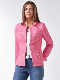 Jacquard-Jersey-Blazer Pink Detail 1