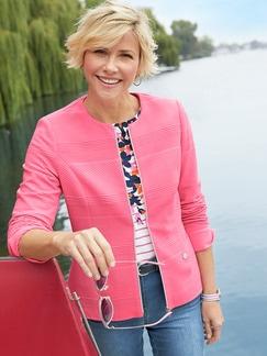 Jacquard-Jersey-Blazer Pink Detail 2