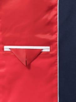 Kofferblazer Galonstreifen Ultramarine/Rot Detail 4