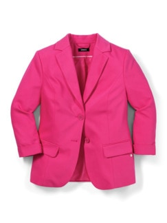 Sommerblazer Wash & Wear Fuchsia Detail 2