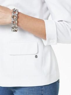 Sommerblazer Wash & Wear Weiß Detail 4