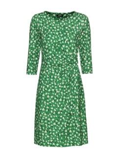 Jerseykleid Wickeloptik Grasgrün Detail 4