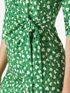 Jerseykleid Wickeloptik Grasgrün Detail 3