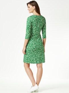 Jerseykleid Wickeloptik Grasgrün Detail 2